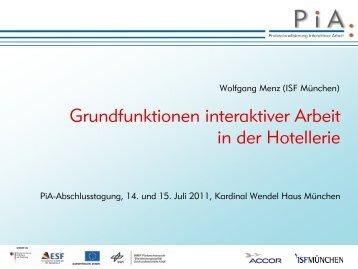 Grundfunktionen interaktiver Arbeit in der Hotellerie - PiA ...