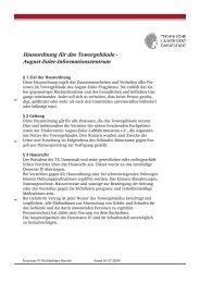 Hausordnung für das Towergebäude - Technische Universität ...
