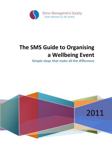 The SMS Guide to Organizing a Wellbeing Event - International ...