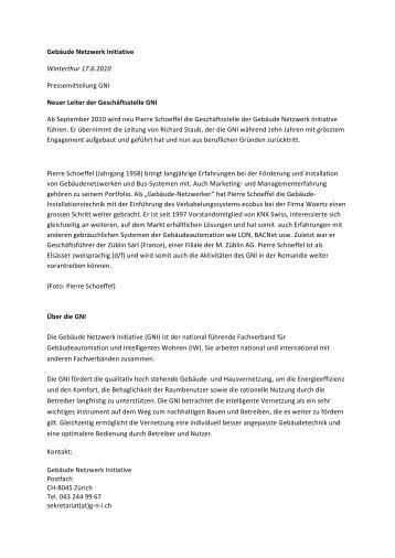 Pressemitteilung - GNI