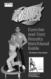 Exercise & Fast Results Nutritional Guide