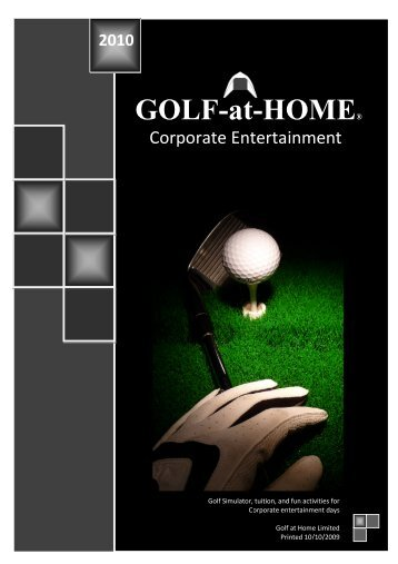 GOLF GOLF-at-HOME HOME® - International Confex