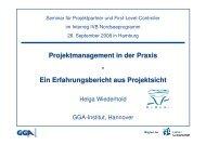 Projektmanagement in der Praxis - Interreg IV B