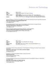 Science and Technology - International Journal of Arts & Sciences