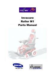 Invacare Roller M 1 Parts M anual - Invacare Australia