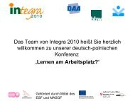 Das Projekt Integra 2010