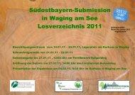 Südostbayern-Submission 2011 - Bayerische Staatsforsten