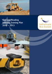 Civil and Roading Industry Training Plan - InfraTrain New Zealand