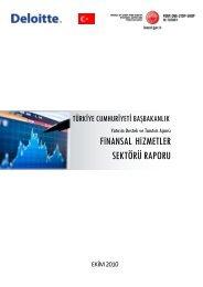 Finansal Hizmetler Sektörü Raporu - Invest in Turkey
