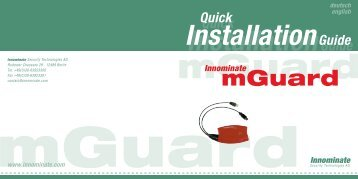 mGuard - Innominate Security Technologies AG