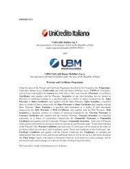 UniCredito Italiano SpA - Tradinglab - UniCredit