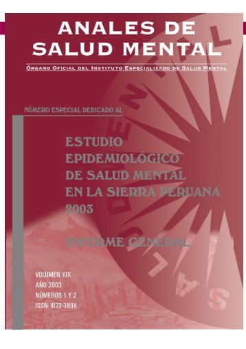 SIERRA 2006.pmd - Instituto Nacional de Salud Mental