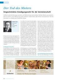 Bericht_mf_Wohnwirtschaft_1113.pdf - Fricker Rechtsanwälte