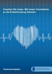 PDF-Datei herunterladen - Krebsforschung Schweiz