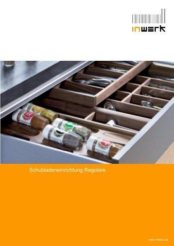 Schubladeneinrichtung Regolare - inwerk
