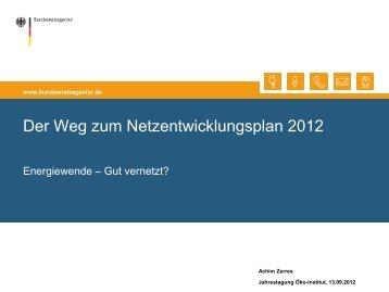 Der Weg zum Netzentwicklungsplan 2012 - Öko-Institut eV