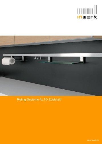 Reling-Systeme ALTO Edelstahl - inwerk