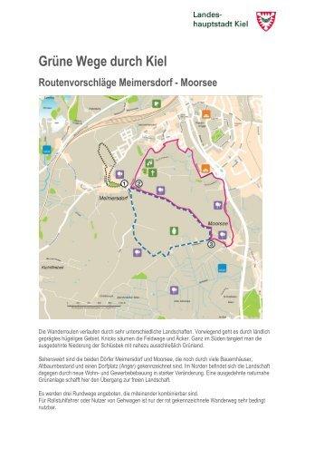 Ausführliche Routenbeschreibungen für Meimersdorf-Moorsee als ...