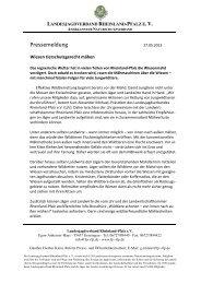 Pressemeldung - Landesjagdverband Rheinland-Pfalz