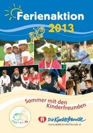 Ferienkatalog 2013 - Kinderfreunde