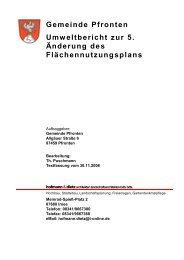 Gemeinde Pfronten Umweltbericht zur 5. Änderung des ...