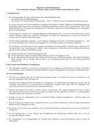 Allgemeine Geschäftsbedingungen für Verträge über Heizungs ...
