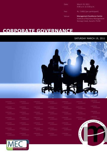 Corporate Governance copy - Institute of Business Management