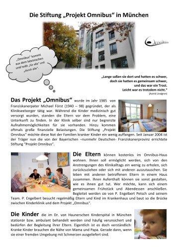 """Die Stiftung """"Projekt Omnibus"""" in München"""