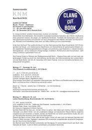 Poesie – Stadtraum Ein Festival in zwei Kapiteln 17. – 22. Juni 2013 ...