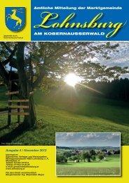 Amtliche Mitteilung der - Marktgemeinde Lohnsburg am ...