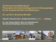 PPT Präsentation Denkmalpflegerischer ... - Stadtlauringen
