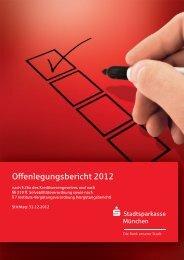 Offenlegungsbericht 2012 - Stadtsparkasse München