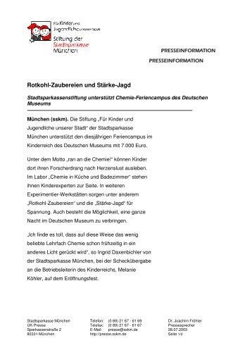 Rotkohl-Zaubereien und Stärke-Jagd - Stadtsparkasse München