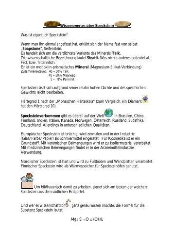 Wissenswertes über Speckstein