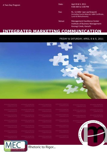 Integrated Marketing Communication - Institute of Business ...