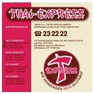 Speisekarte - THAI EXPRESS
