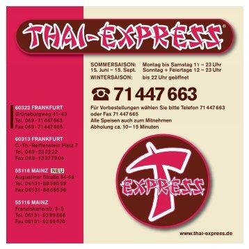 Speisekarte anzeigen (PDF) - THAI EXPRESS