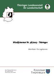 Mischfuttertest Nr. Mischfuttertest Nr. 38/2003 - Thüringer ...