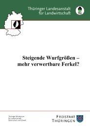 Steigende Wurfgrößen - mehr verwertbare Ferkel ? - Thüringer ...