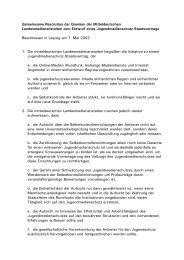 Gemeinsame Resolution der Gremien der Mitteldeutschen ...