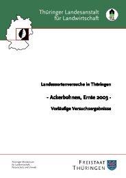 Thüringer Landesanstalt für Landwirtschaft - TLL