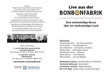 BonB nfABRiK - Theater Coram Publico