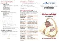 Flyer für werdende Mütter und Väter