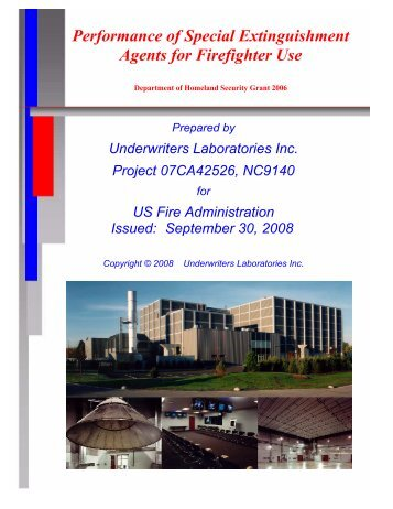 Performance of Special Extinguishment Agents for ... - UL.com