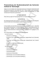 Entwurf Finanzordnung - UStA KIT