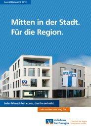 Geschäftsbericht 2012 - Volksbank Bad Saulgau eG