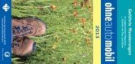 Unser Flyer 2013 zum Wandern, Radfahren und Exkursionen ... - VCD