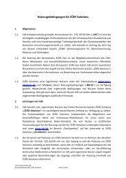 Nutzungsbedingungen für ZÜRS Solutions - VdS