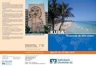Reiseprospekt Kuba 2014 - Volksbank Chemnitz eG
