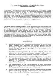 Verordnung über die Art und den Umfang der Straßenreinigung in ...